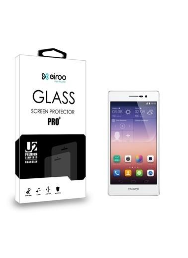 MobilCadde Eiroo Huawei Ascend P7 Tempered Glass Cam Ekran Koruyucu Renkli